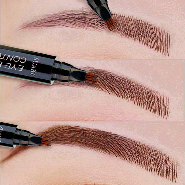 Eye Brow Pencil Waterproof Microblading Eyebrow Tattoo Pen Long-lating Fine Sketch Fork Tip Professional Liquid Eyebrows Pen