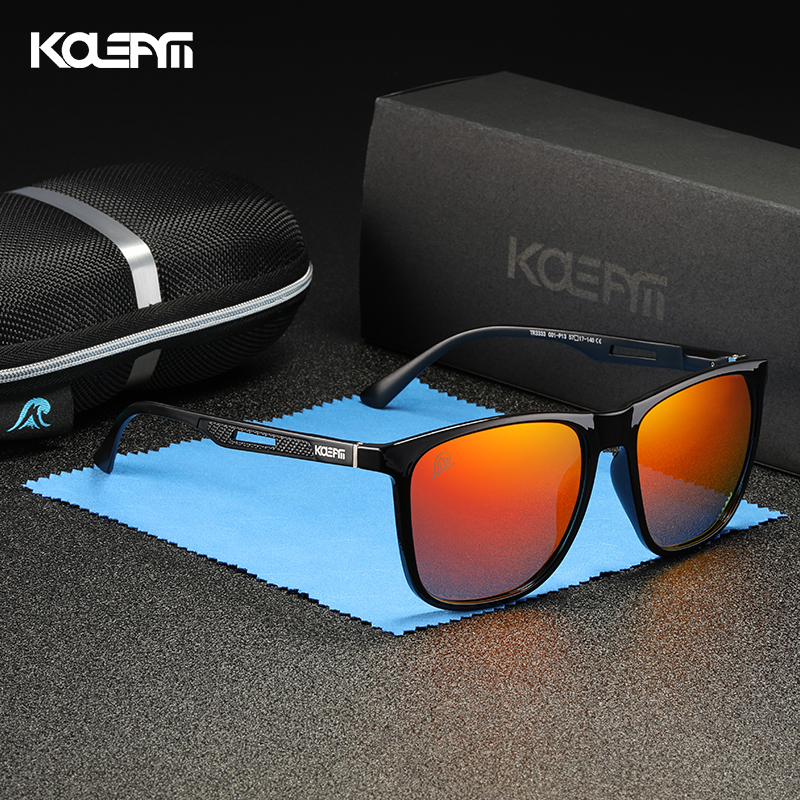 KDEAM Strong Spring Hinges Coating Polarized Sunglasses Men Light TR90 Frame Sun Glasses With Aluminum Magnesium Legs