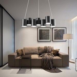 Image 5 - Artpad 35 Вт черная люстра светильник Led минималистичный геометрический светильник для столовой скандинавский пост современный потолочный подвесной светильник