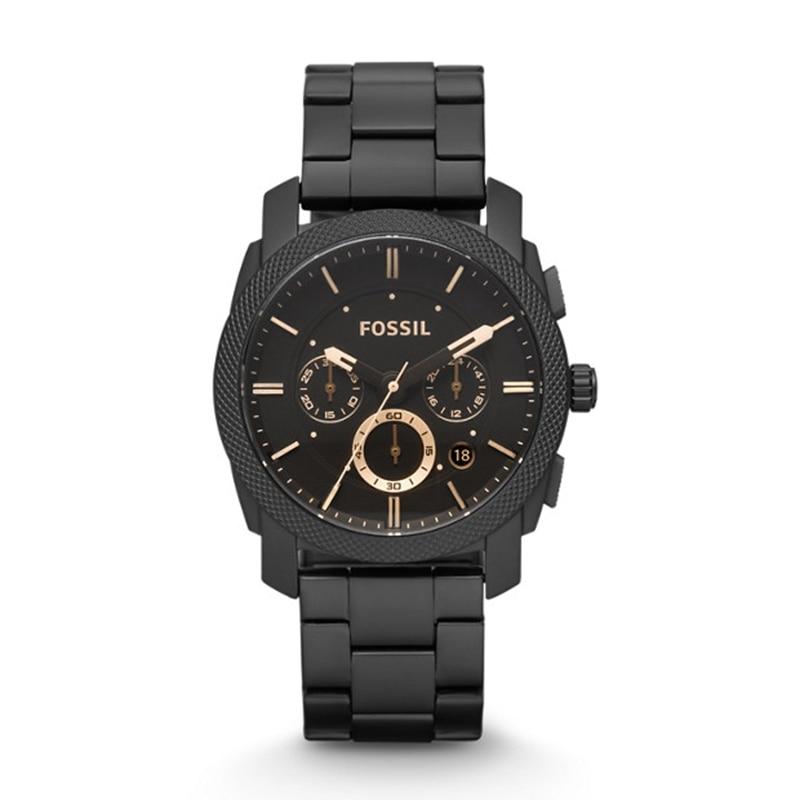 Montre fossile hommes Machine taille moyenne chronographe montre avec acier inoxydable noir montre-bracelet hommes montres haut de gamme luxe FS4682