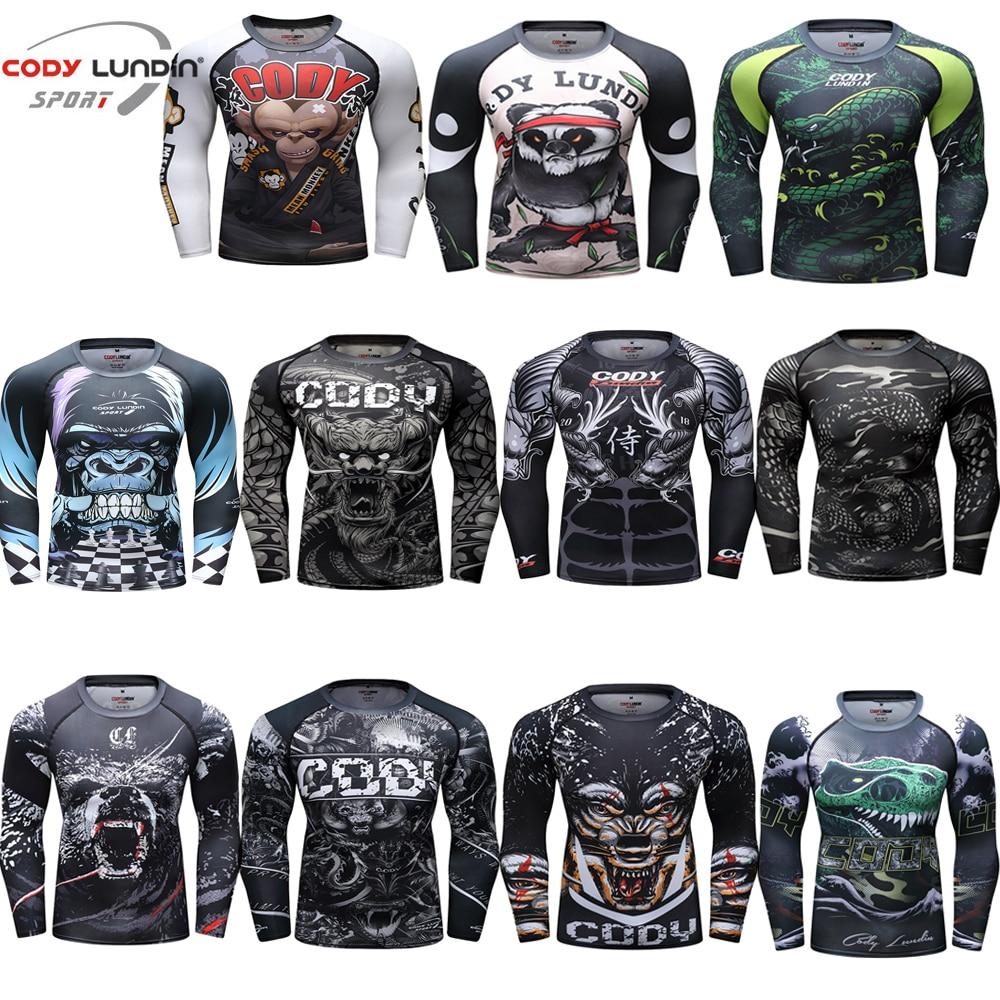 Mma T Shirt Mens Rashguard Jiu Jitsu T Shirt Fitness Bjj Gi Muay Thai Boxing Sport Sweater Clothing Mma Rash Guard Boxing Jersey Exquisite Traditional Embroidery Art