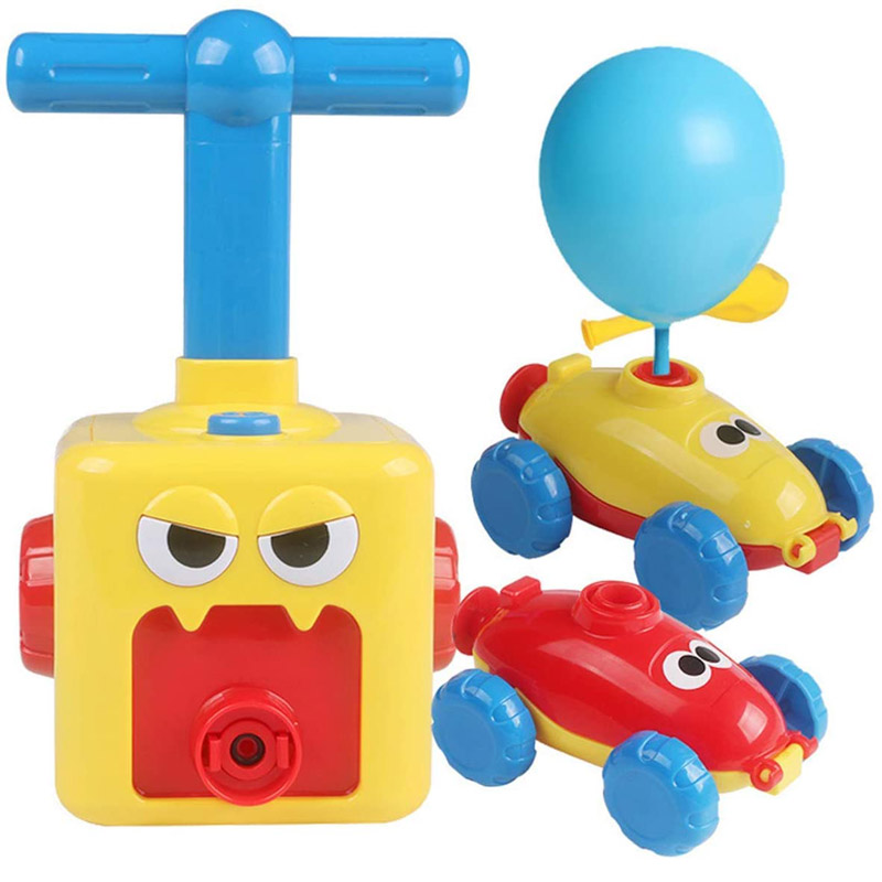 Inertial Balloon Powered Toy Race Car Science Toys Educational For Children Kids Most Popular Hot
