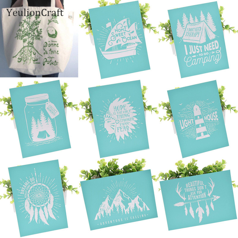 be Grateful YeulionCraft DIY Self-Adhesive Silk Screen Printing Stencil Letters Mesh Transfers Reusable Stencils for Making DIY Sign Decoration Chalkboards Wood