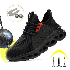 Shoes Safety-Boot Insurance Anti-Piercing Breathable Lightweight Construction-Site Labor