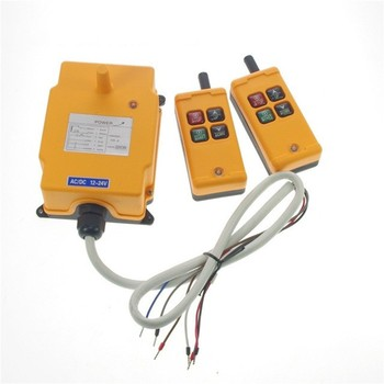 цена на 4 Buttons HS-4 1Speed 2 Transmitter Hoist Crane Truck Remote Control System 12V