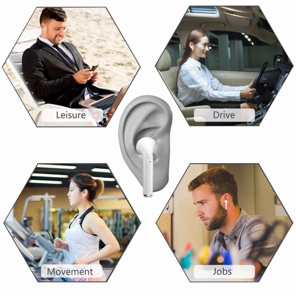 Hot sport bezprzewodowe słuchawki Bluetooth I7S TWS słuchawki bezprzewodowy zestaw słuchawkowy z mikrofonem słuchawka do iPhone'a Xiaomi Huawei wszystkich telefonów