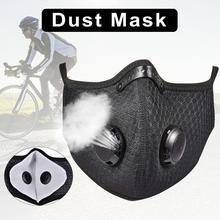 3 sztuk maska przeciwpyłowa Anti-Fog Unisex maska maska przeciwpyłowa z filtrem maska rowerowa do sportów na świeżym powietrzu działa anti-cząstki tanie tanio