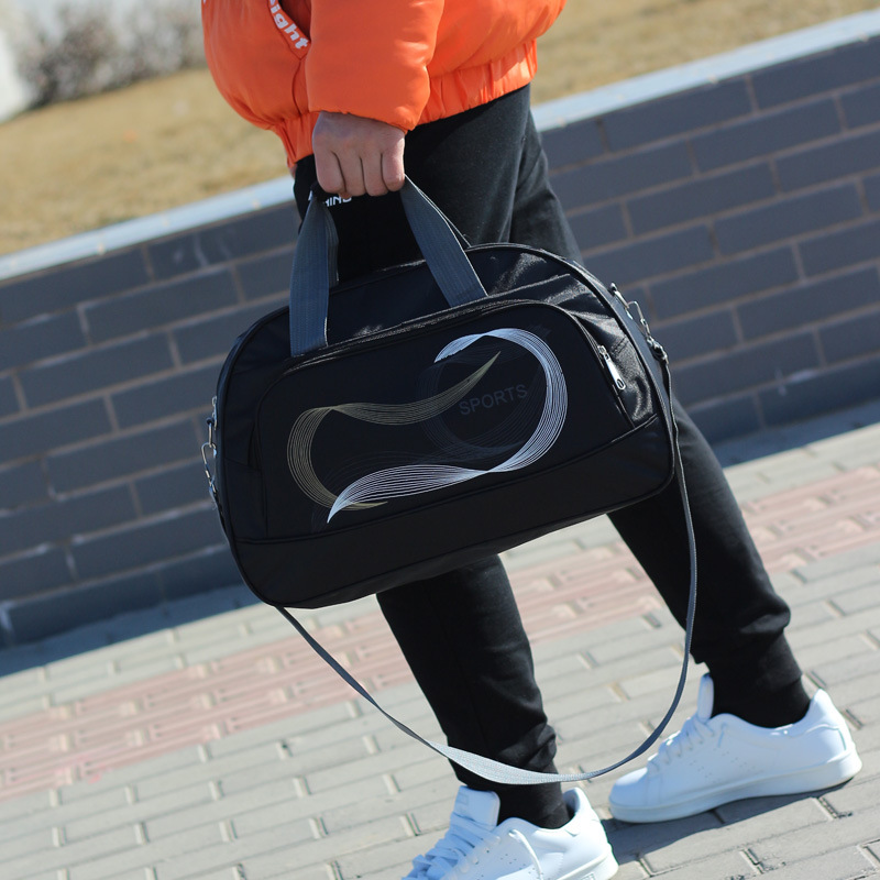 Large Capacity Wear-resistant Waterproof Nylon Bag Travel Handbag Fashion Leisure Fitness Storage Bag