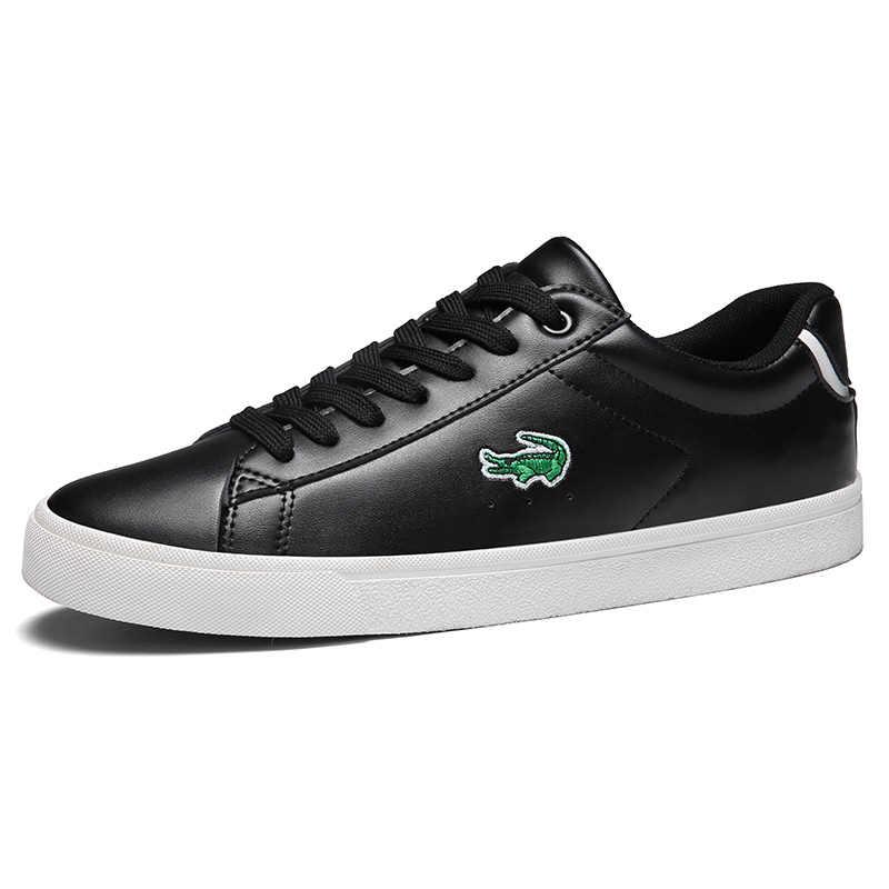 CARTELO 2020 nowe obuwie męskie płaskie buty skórzane sznurowane niskie buty sportowe Tenis Masculino