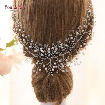 TOPQUEEN Wedding Tiara Wedding Headband Wedding Headwear Bride Hair Jewelry Bridal Hairband Wedding Hair Accessories HP55-S