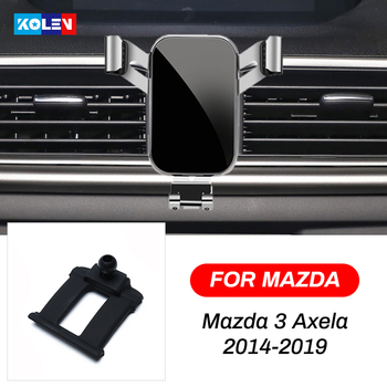 For Mazda 3 Axela 2014 2015 2016 2017 2018 2019 Car Mobile Phone Holder Gravity Air Vent Stand Smart Phone Navigation Bracket image