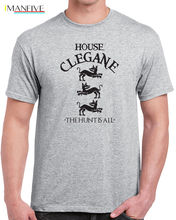 House Clegane mens T-shirt mountain the hound game sigil thrones vintage new  Free shipping Tops t shirt Fashion Classic
