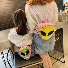 Fashion Children PVC Small Crossbody Bags Alien Laser Transparent Girls Jelly Bag  Baby Coin Purse wallet Accessories