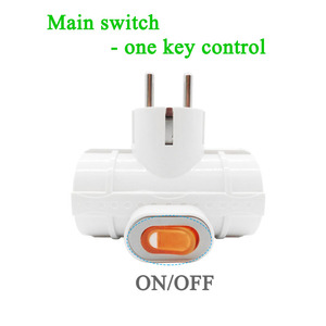 Image 4 - 4.8MM EU standard Power Adapter Socket DIN Plug 1 to 3 Socket with Switch 16A 250V Travel Wall Charger Converter Socket
