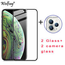 2PCS Full Glued Screen Protector For iPhone 12 Tempered Glass Full Cover for iPhone SE 2020 11 Pro Max X XR XS 7 8 Plus 6s Film