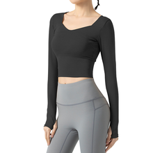 Sexy Women Casual Sport Shirts High Elastic Solid Color Gym Fitness Yoga Top Running Breathable Long Sleeve T-Shirts Top Mujer