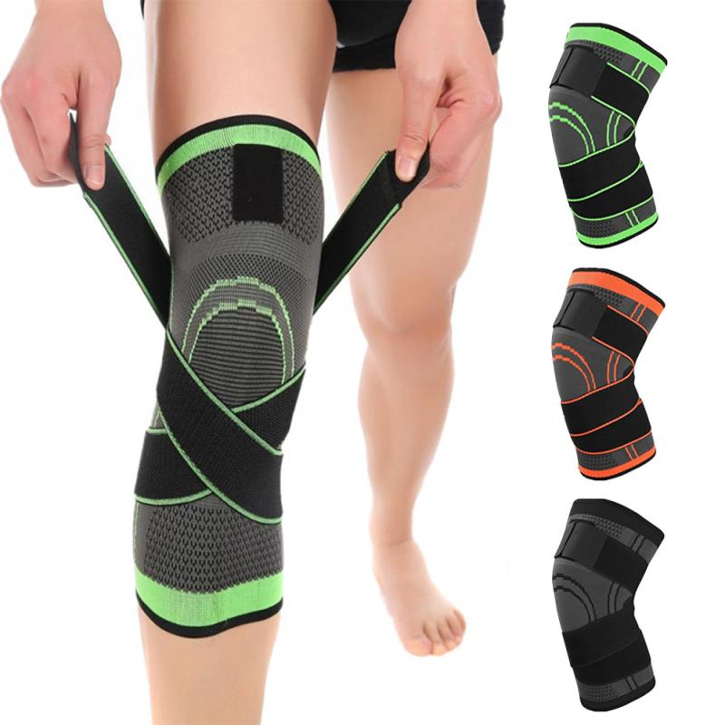 1PCS 2018 Knee Support Professional Protective Sports Knee Pad Breathable Bandage Knee Brace Basketball Tennis Cycling