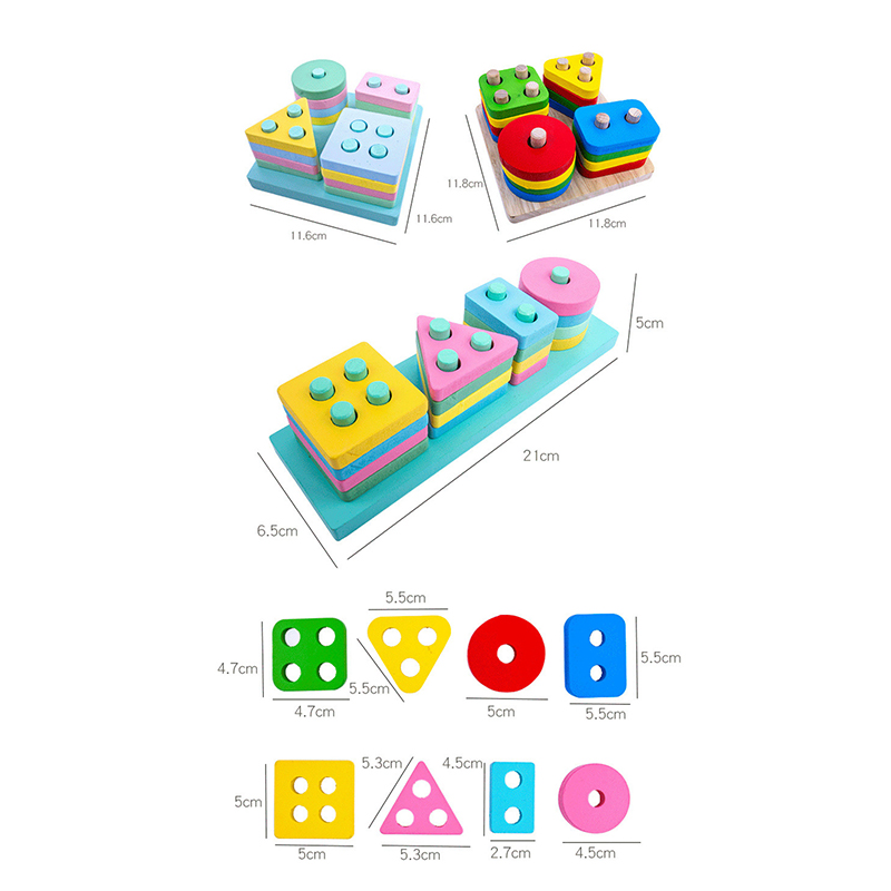 Wooden Montessori Toy Building Blocks Early Learning Educational Toys Color Shape Match Kids Puzzle Toys For Children Boys Girls Learning & Education cb5feb1b7314637725a2e7: WT179C WT180C WT181C WT297C WT298C WT313C WT314C WT315C WT338C WT339C WT380C WT381C WT382C WT383C
