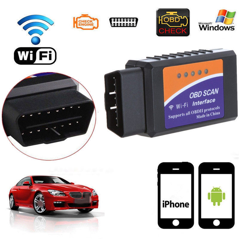 <font><b>ELM327</b></font> <font><b>V1.5</b></font> Bluetooth/WIFI For Android IOS Diagnostic Tool with PIC18F25K80 Chip <font><b>ELM327</b></font> Bluetooth <font><b>V1.5</b></font> <font><b>OBD2</b></font> Scanner image