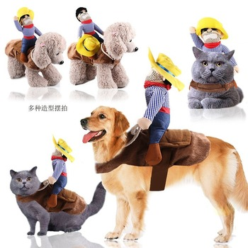 Big Dog Clothes Cat Pet Supplies Riding Clothes Mutable Halloween Santa Claus Clothes Funny Small Medium Large image