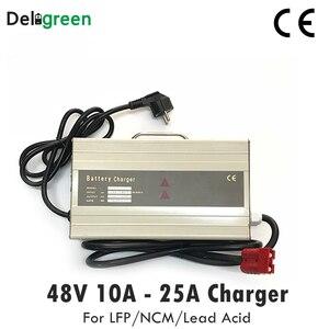 Image 1 - Cargador portátil inteligente para carretilla elevadora eléctrica 48V 10A 15A, Scooter para 16S 58,4 V Lifepo4 15S 63V LiNCM batería de ácido de plomo