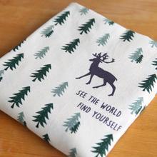 Рождественские хлопковые и льняные набивные ткани рождественская ёлка, олень, принт с героями мультфильмов, собственными руками Сделай Сам наволочка аксессуары для скатерти