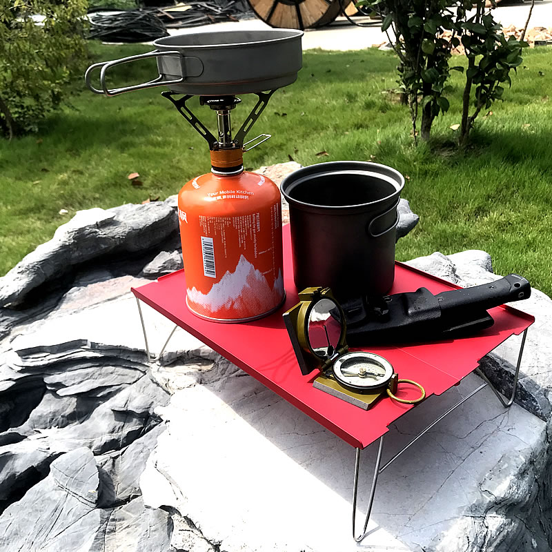 Ultra Light Folding Aluminum Alloy Table Outdoor Durable Lightweight Stainless Steel Desk Camping Portable Tea Table