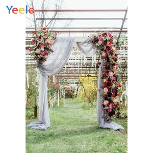 Image 3 - Yeele חתונה שיחת וידאו וילון עצי כר דשא דקור צילום רקע מותאם אישית צילום תפאורות צילום סטודיו