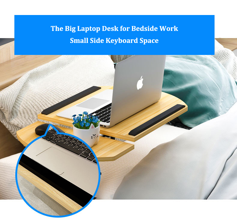 Foldable Laptop Stand with Rotating Wheels and Side Space for Keyboard and Mouse 9