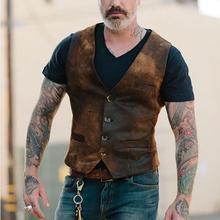 Handsome Men Fashion Single-breasted Suit Vest Slim Business Cotton Waistcoat
