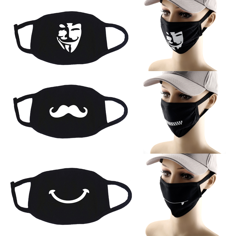 V For Vendetta Masks Men Women Accessories Anti-Pollution Anti-Dust Breathable Face Shield Mask Riding Masks Washable Masque