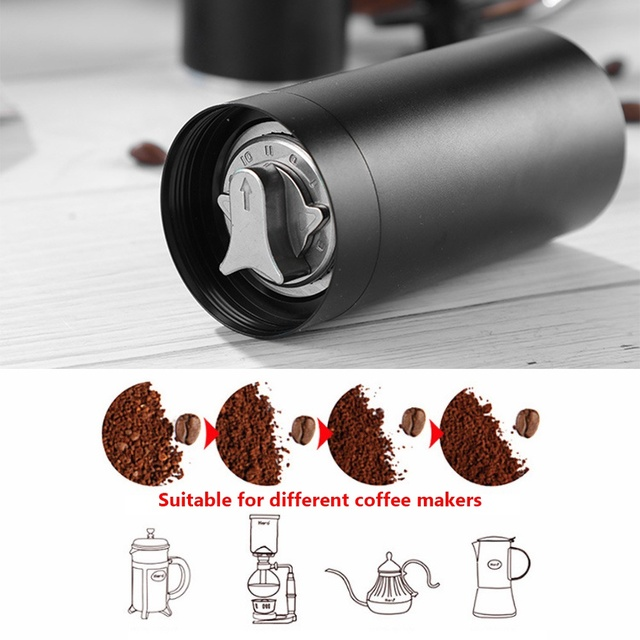 20g Portable Travel Stainless Steel Grinding Core Cylinder Manual Coffee Beans Grinder 5