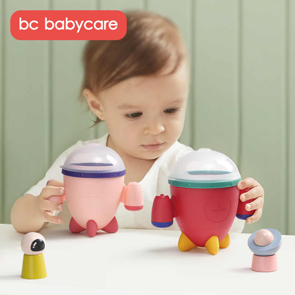 BC Babycare Spill-proof Petal Baby Food Storage Leak-proof Silicone Snack Box Infants Feeding Food Rocket Baby Container Cup Toy
