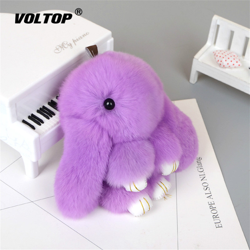 Image 3 - Plush Rabbit Keychain Car Pendant Girl Car Accessories Interior Dashboard Decoration Fashion Bag Pendant Gift-in Ornaments from Automobiles & Motorcycles