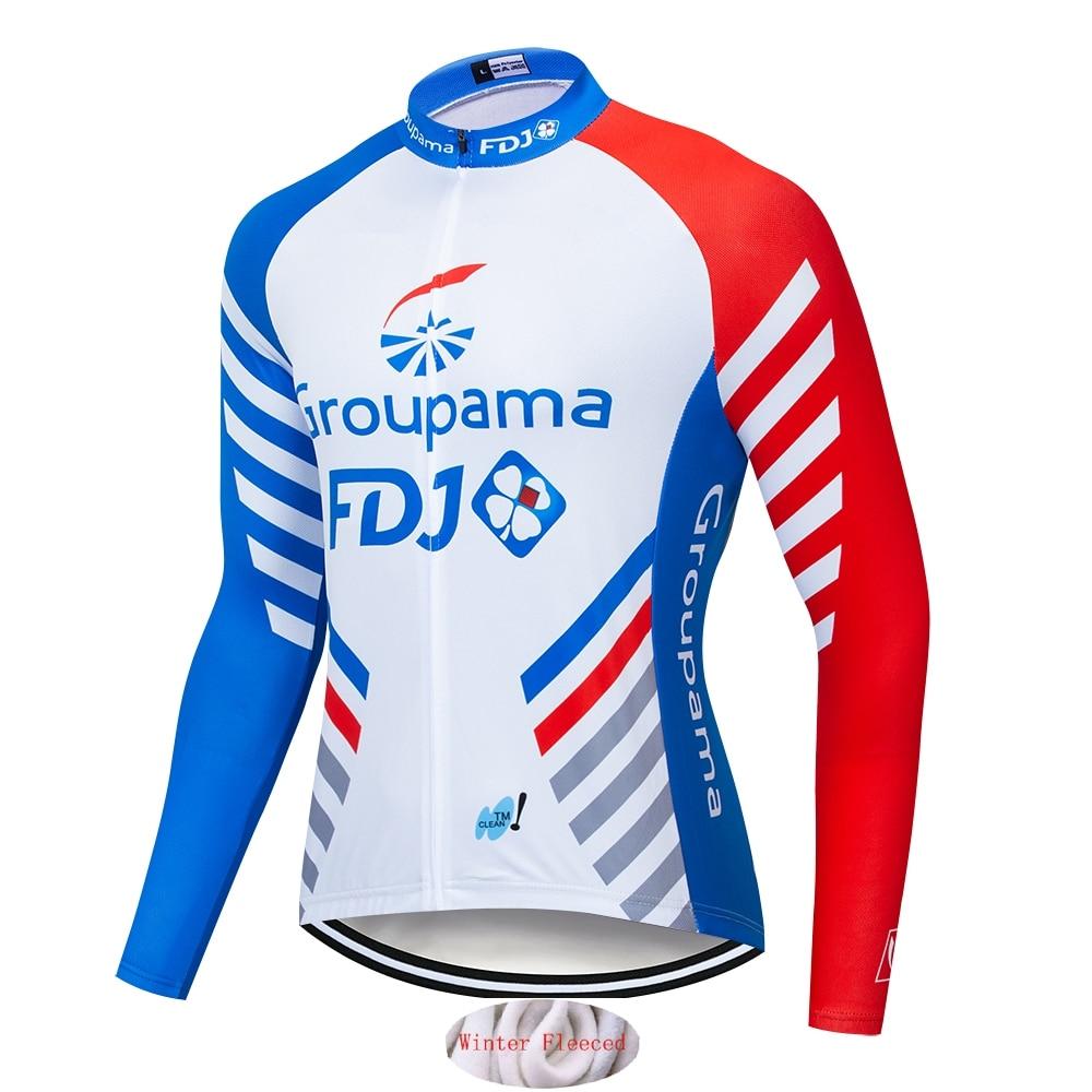 NEW TEAM 2020 cycling winter thermal Coolmax GROUPAMA FDJ jersey