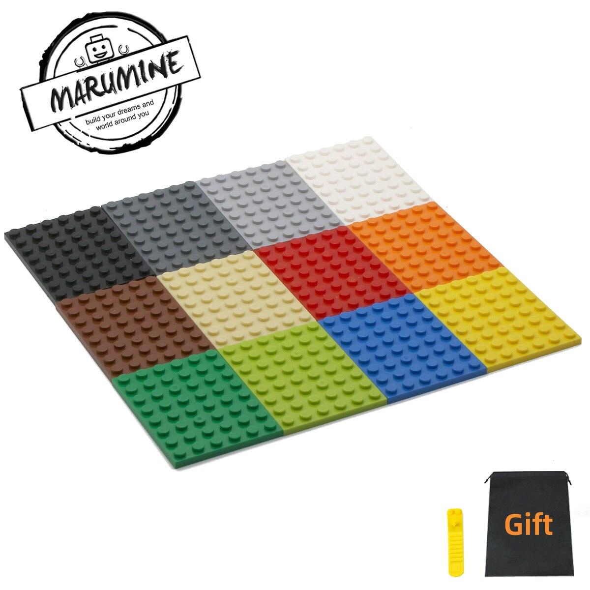 MARUMINE 20PCS 6 X 8 Dots Base Plate Building Blocks 3036 DIY Classic Educational Bricks Parts Bulk For Construction