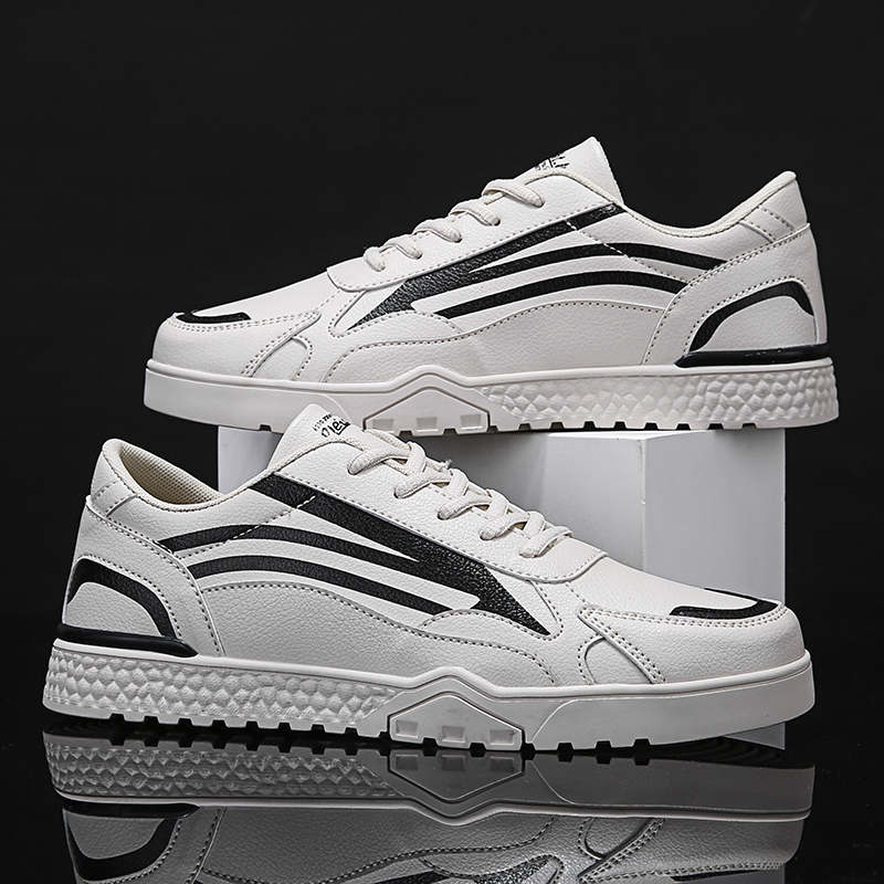 Youth Trend Korean Version Of White Shoes Retro Sneakers Flat Casual Shoes Classic Men's Sneakers Low-top Lace-up Casual Shoes