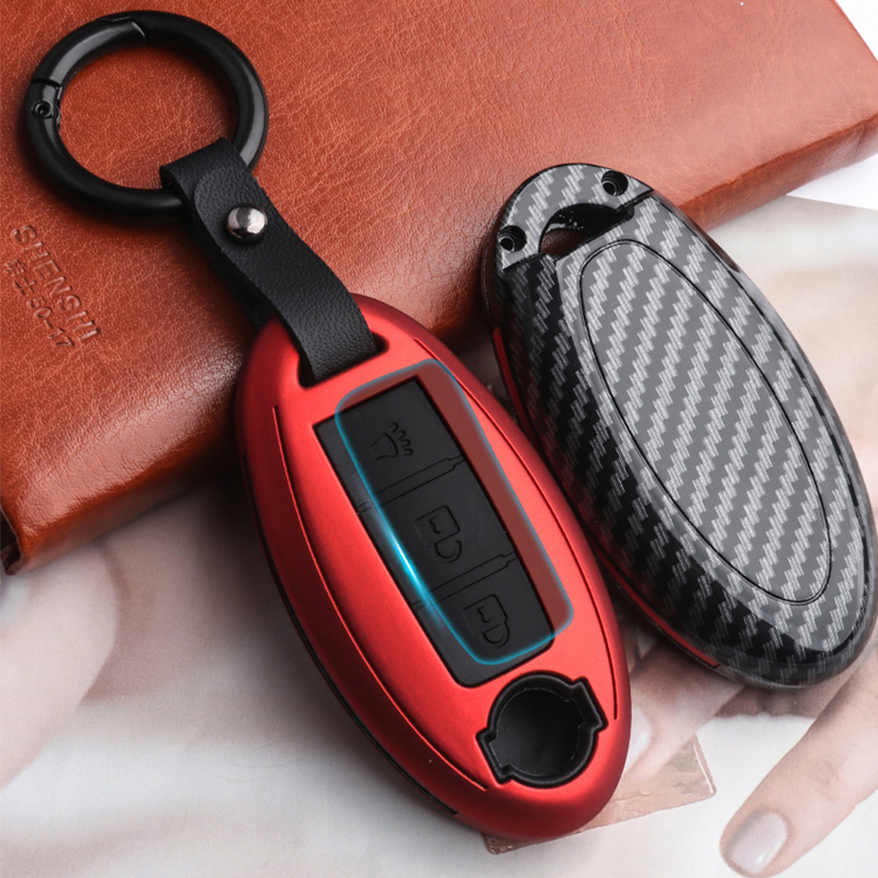 2019 ABS Carbon Fiber Silica Gel Key Case for car for Nissan Infiniti QX50 Q50L Q60 Q70 QX6 interior interior remote control key