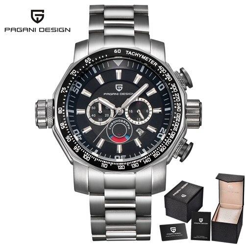 PAGANI DESIGN Top Brand Luxury Men Watches Men's Business Quartz Watch Auto Date Waterproof Clock Wristwatches Relogio Masculino