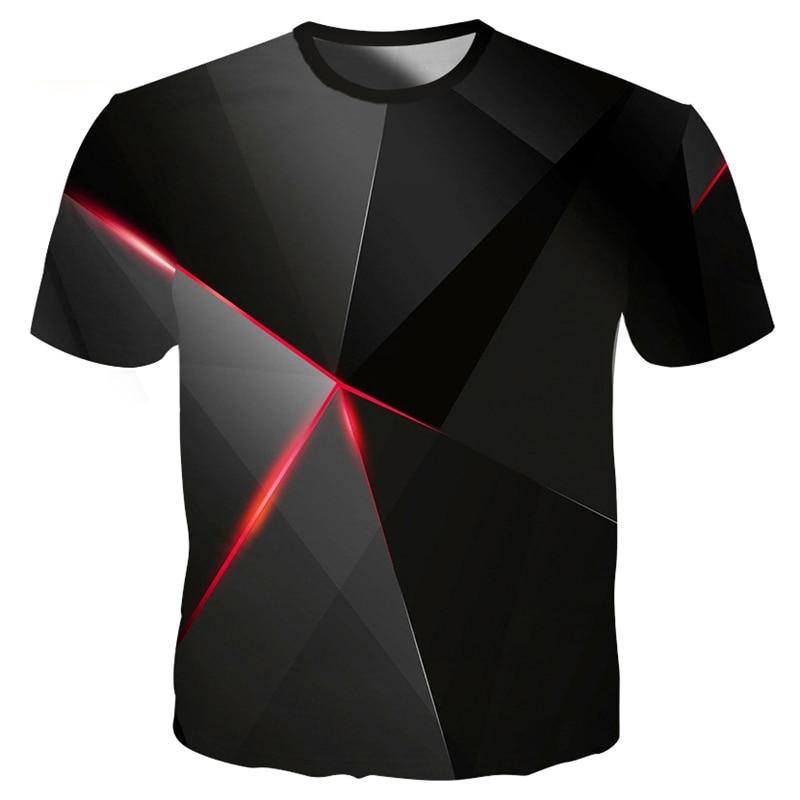 Cool Geometry Pyramid 3d T Shirt Fashion Summer T Shirt Top Streatwear Men Hip Hop Tees Fun 3d Pattern T-shirt Plus Size 4XL