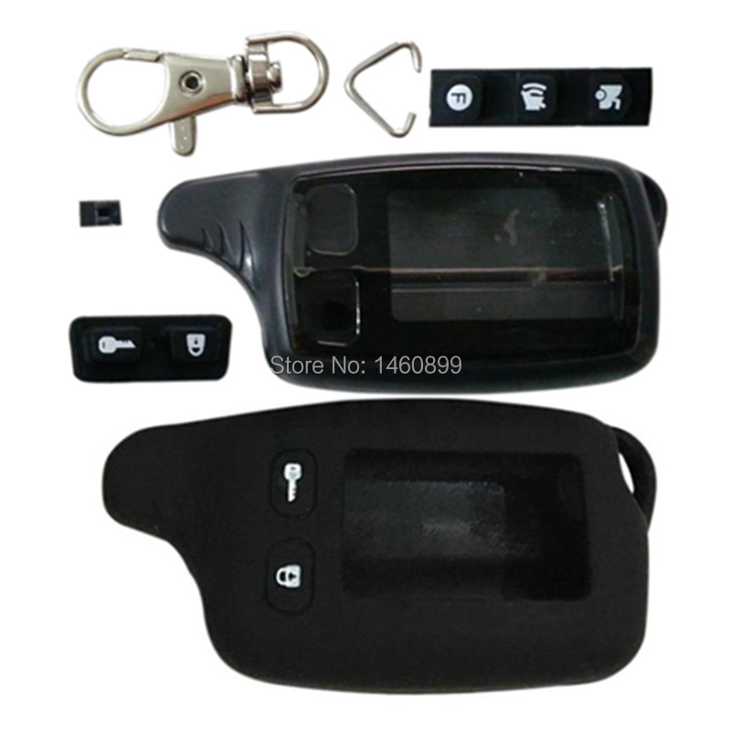 TW9010 Body Keychain Cover + Silicone Key Case For Tomahawk TW-9010/TW-9020/TW-9030 Remote Control TW9030/9020,TW 9010 9020 9030