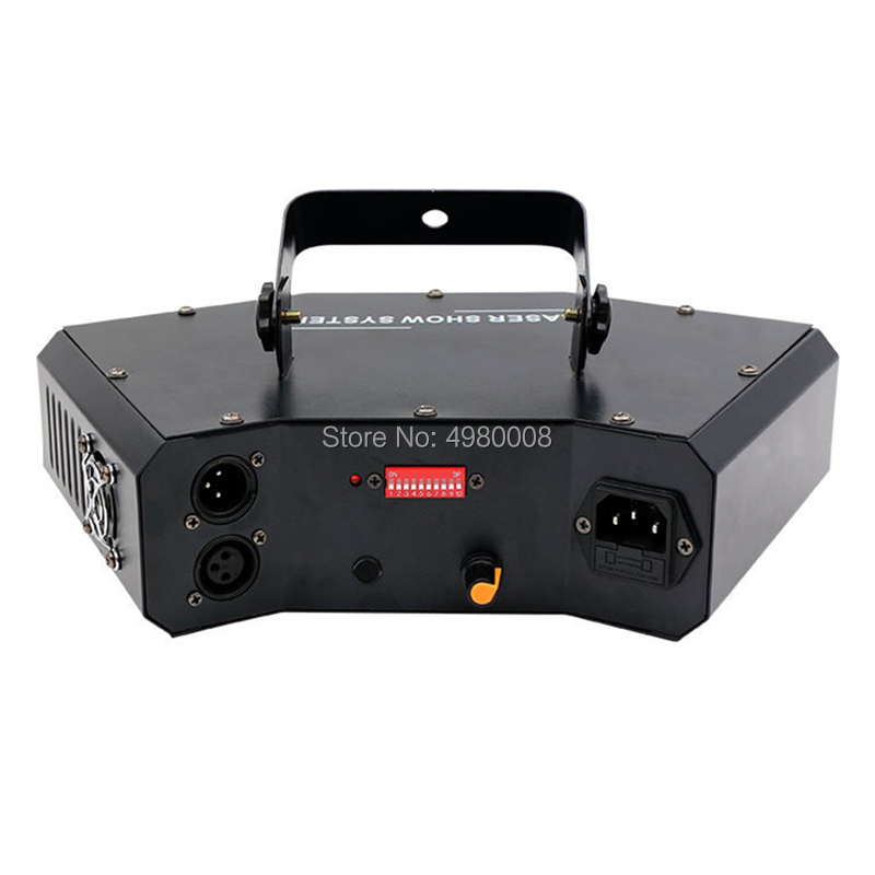 4 Lens Scan Laser Light RGB Full Color Lines Beam With Pattern Laser Home Party DJ Great Effects Stage Light DMX Scan Projector - 2
