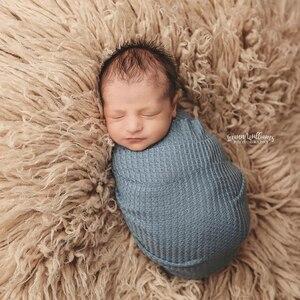 Реквизит для фотосъемки новорожденных 158*150 см вафельные тканевые фоны для малышей накидка-мешок одеяло фотосъемка стенд позирование аксессуары