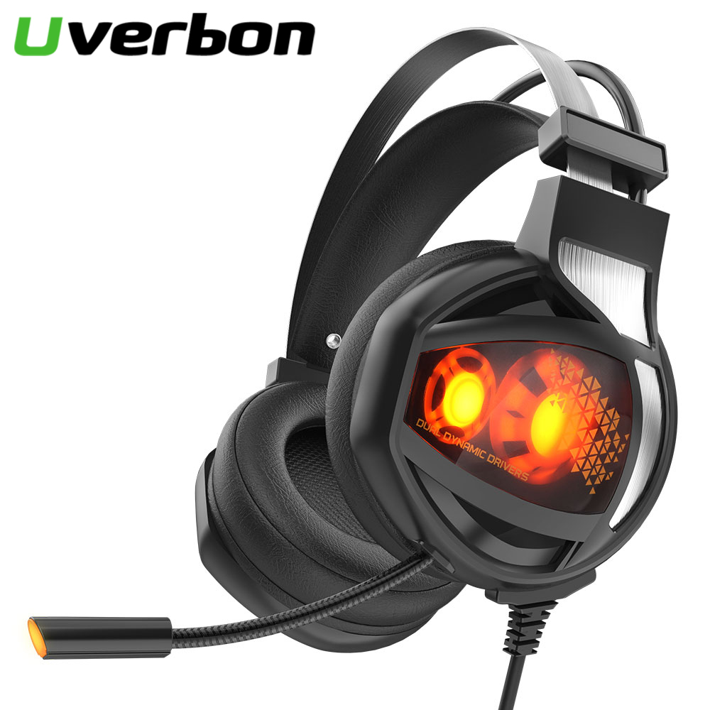 V9 <font><b>USB</b></font> 7.1 Stereo Wired Gaming Kopfhörer LED Spiel Headset mit Mic Voice Control Für PS4 PC Laptop <font><b>Computer</b></font> Gamer Wired headset image