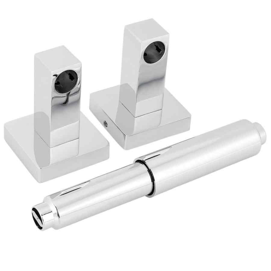 Teleskopowa ze stali nierdzewnej do montażu na ścianie uchwyt na papier toaletowy tkanki łazienka półki uchwyt na ręcznik papierowy
