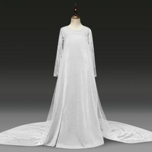 Snow Dress Long Sleeve Autumn Dress for Girls Cosplay Dresses Halloween Princess Costume 4-10Y White Dress Girls Costume
