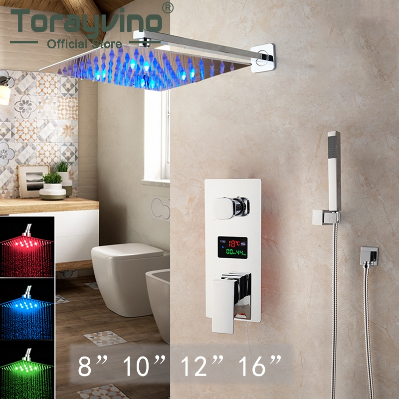 Bathroom Sets Chuveiro Com Led Shelves