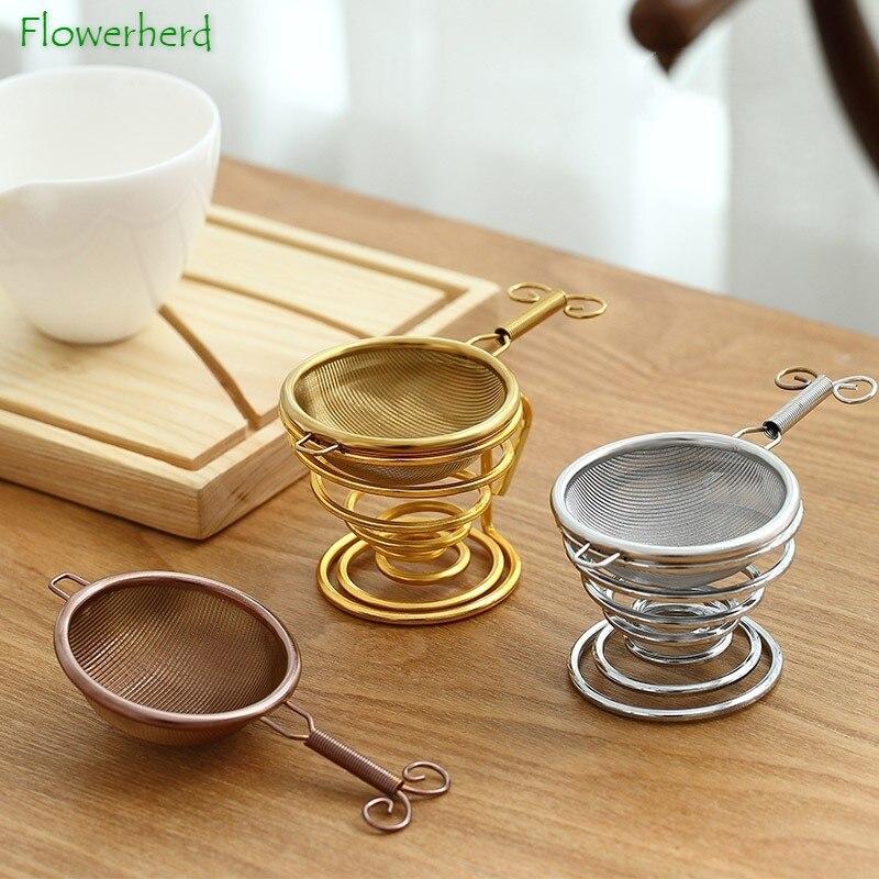 304 Stainless Steel Tea Strainer Tea Infuser Tea Filter Creative Japanese-style Filter Mesh Kung Fu Tea Set Kitchen Accessories