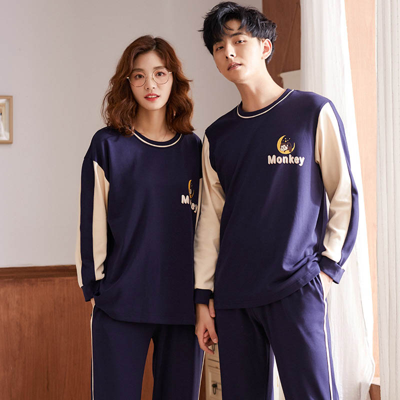 Winter Warm Pajamas Set For Unisex Adult Couple Men 2 Pieces Thickening Long Sleeve Male Sleepwear New Home Service Suit