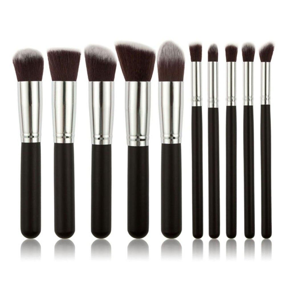 YSDO 10 pcs набор кистей для макияжа Кисти в комплекте Кисть для макияжа, кисти для макияжа, набор инструментов, подводка для глаз, мягкий смешанн...